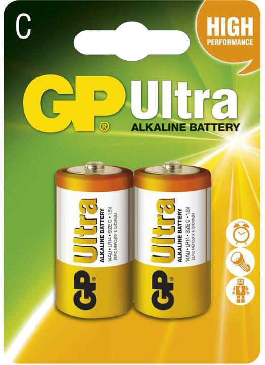 GP Ultra Plus, alkalická, C 2ks