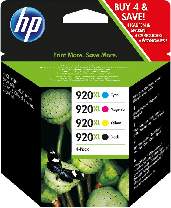 HP C2N92AE, CMYK, č. 920XL – ušetřete až 20 % oproti standardní náplni