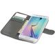 CELLY Wally pouzdro pro Samsung Galaxy S6 Edge, PU kůže, bílá