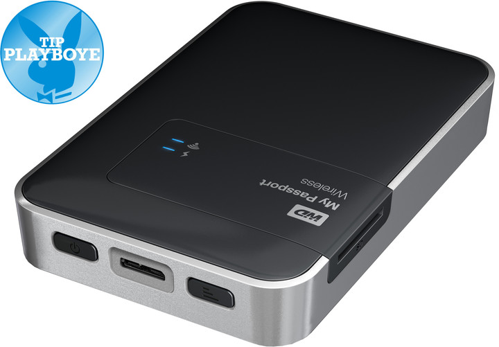 WD My Passport Wireless - 2TB, černá