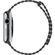 Apple Watch 42mm Stainless Steel Case with Storm Grey Leather Loop - Large