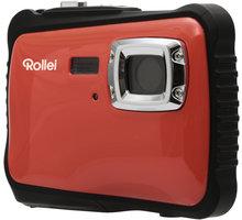 Rollei Sportsline 65, voděodolný, červená/černá, brašna - 10058