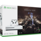 XBOX ONE S, 500GB, bílá + Middle-Earth: Shadow of War  + Druhý ovladač Xbox, bílý v ceně 1400 kč