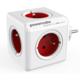 PowerCube ORIGINAL rozbočka-5ti zásuvka, červená