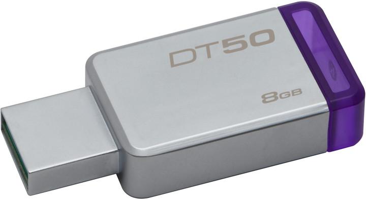 Kingston DataTraveler 50 - 8GB, fialová