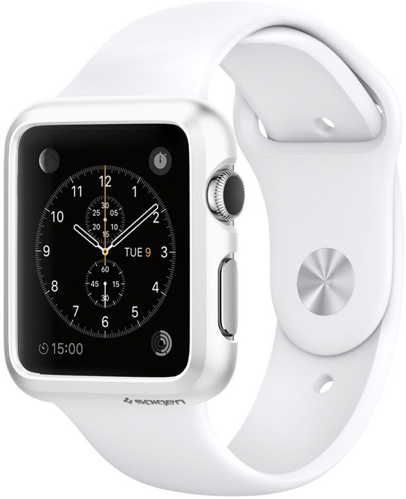 Spigen Thin Fit, smooth white - Apple Watch 38mm