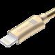 CONNECT IT Wirez Steel Knight Lightning - USB, metallic gold, 2,1A, 1 m