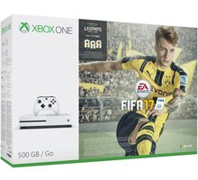 XBOX ONE S, 500GB, bílá + FIFA 17 - ZQ9-00056 + Hra Gears of War 4