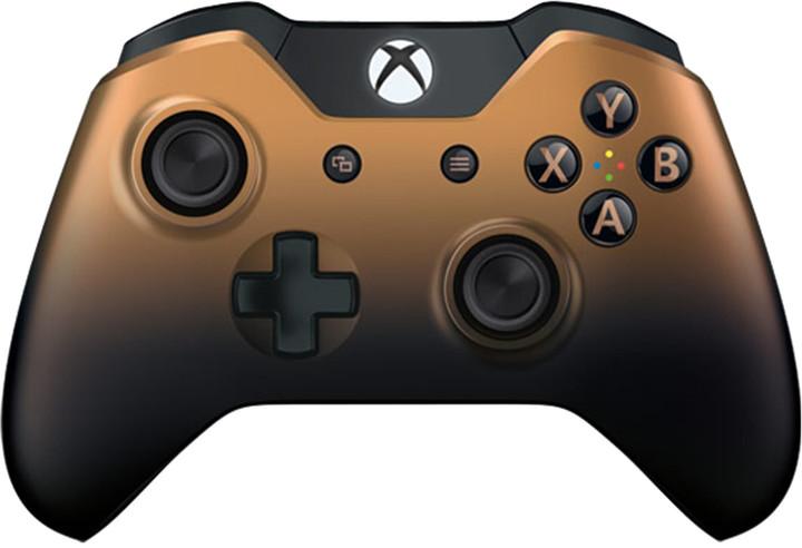 Microsoft Xbox ONE Gamepad Langley, bezdrátový, bronzový (Xbox One)