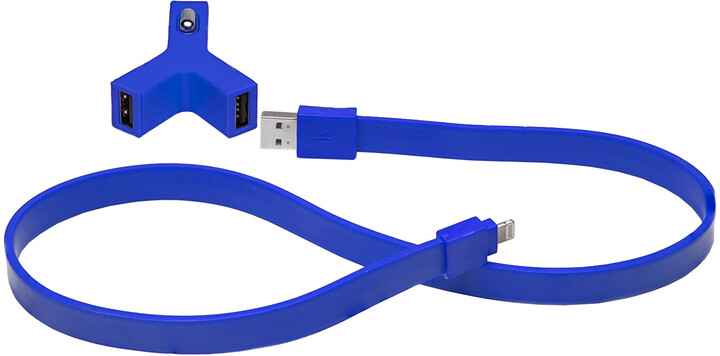 TYLT Y-CHARGE - 2.1A + Syncable Lightning Blue