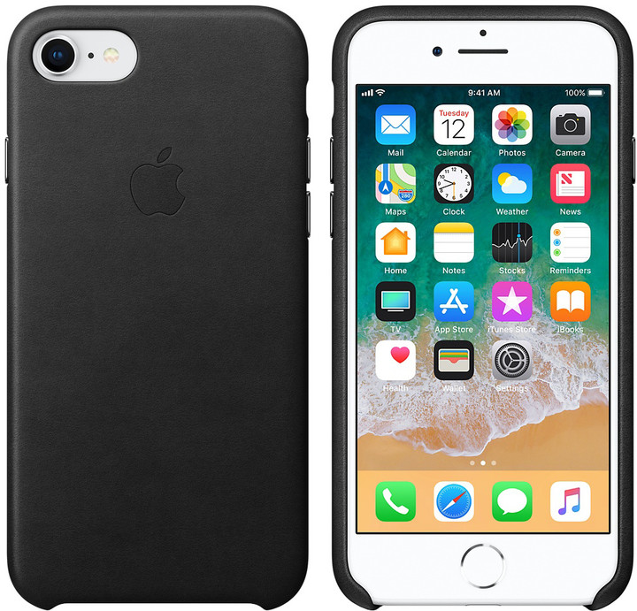 Apple kožený kryt na iPhone 8/7, černá