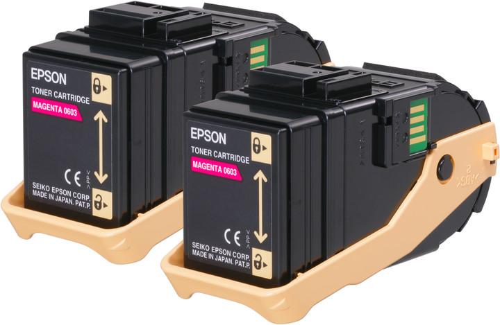 Epson C13S050607, magenta, double pack