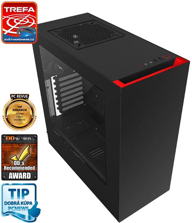 NZXT S340, USB 3.0, černá s červenou