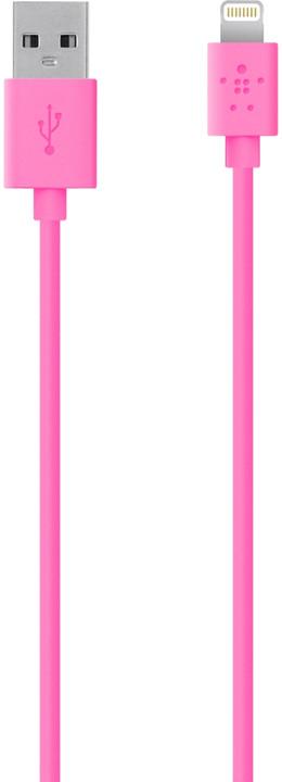 Belkin Synchronizační Lightning kabel 1.2m, růžová