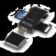 AXAGON externí HANDY čtečka SD/MicroSD/MS/M2,černá