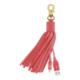 Belkin Lightning USB dobíjecí kabel v klíčence, kožený střapec - růžová