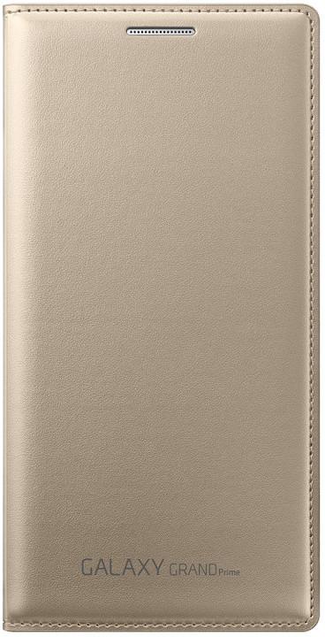 Samsung flipové pouzdro s kapsou EF-WG530B pro Galaxy Grand Prime (SM-G530), zlatá