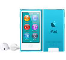 Apple iPod Nano - 16GB, modrá, 7th gen. - MKN02HC/A