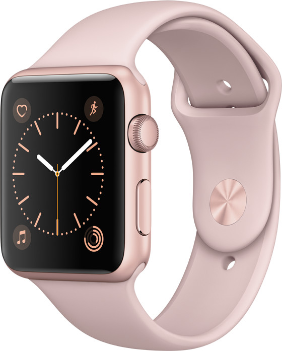 Apple Watch 42mm Rose Gold Aluminium Case with Pink Sand Sport Band