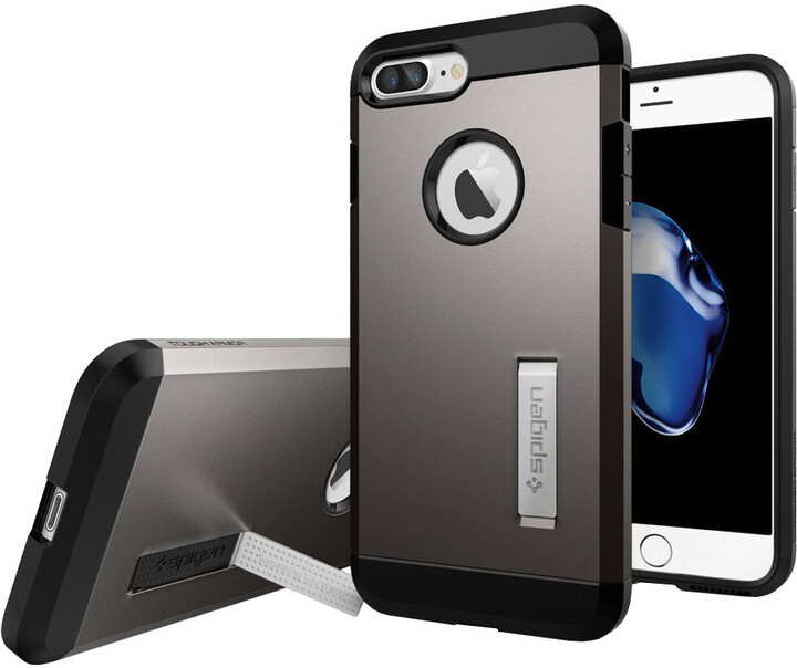 Spigen Tough Armor pro iPhone 7+, gunmetal