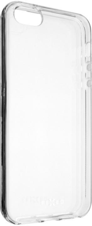 FIXED gelové TPU pouzdro pro Apple iPhone 5/5S/SE, bezbarvé