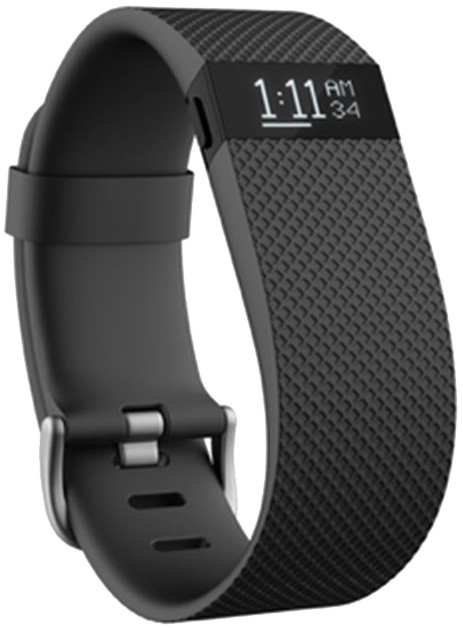 Fitbit Charge HR, L, černá