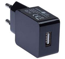 CONNECT IT nabíjecí adaptér 1xUSB port 1 A, černá - CI-593
