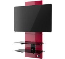 Meliconi 488302 GHOST DESIGN 3000 Sestava pro TV a komponenty k instalaci na zeď, červená