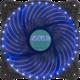 Evolveo ventilátor 120mm, LED 33 bodů, modrý