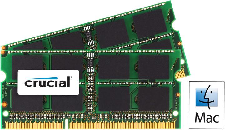 Crucial Mac Compatible 16GB (2x8GB) DDR3 1600 SO-DIMM Dual Voltage