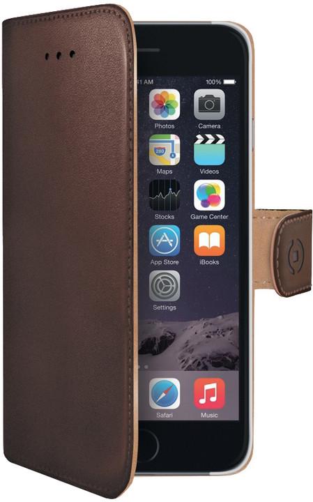 CELLY Wally pouzdro pro Apple iPhone 6 Plus, PU kůže, hnědá