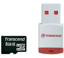 Transcend Micro SDHC 8GB Class 10 + USB čtečka - TS8GUSDHC10-P3