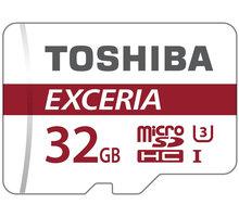Toshiba Micro SDHC Exceria M302 32GB 90MB/s UHS-I U3 + adaptér - THN-M302R0320EA