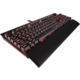CORSAIR Gaming K70 LUX, herní, Cherry MX Red, červené LED, černá, EU