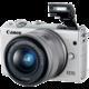 Canon EOS M100 + EF-M 15-45mm IS STM + EF-M 22mm STM, bílá