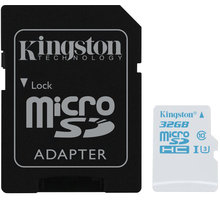Kingston Action Card Micro SDHC 32GB Class 10 UHS-I U3 + SD adaptér - SDCAC/32GB