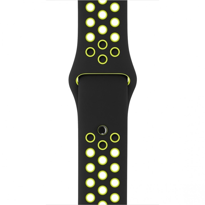 Apple watch náramek 38mm Black/Volt Nike Sport Band - S/M & M/L