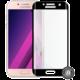 Screenshield temperované sklo na displej pro Galaxy A3 2017 (A320), kovový rámeček, černá