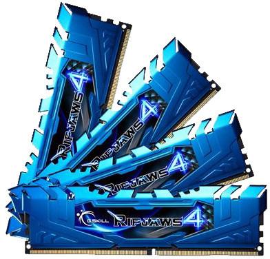 G.SKill Ripjaws4 32GB (4x8GB) DDR4 2666 CL16, modrá