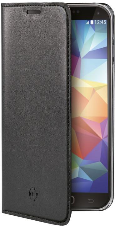 CELLY pouzdro Air pro Samsung Galaxy S5 / S5 Neo, PU kůže - černá