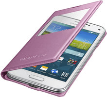 Samsung flipové pouzdro s oknem EF-CG800B pro Galaxy S5 mini, růžová - EF-CG800BPEGWW