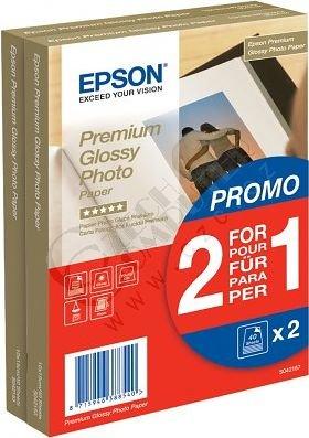 Epson Foto papír Premium Glossy, 10x15 cm, 2x40 listů, 255g/m2, lesklý