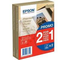 Epson Foto papír Premium Glossy, 10x15 cm, 2x40 listů, 255g/m2, lesklý - C13S042167