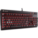 Corsair STRAFE RED LED + Cherry MX BROWN, CZ