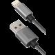 YENKEE YCU 601 GY USB / lightning kabel 1 m, stříbrná  + Zdarma Promobox baterie 1x8BP LR6 AA FUJITSU v ceně 169,- Kč