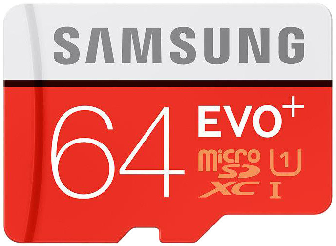 Samsung Micro SDXC EVO Plus 64GB + SD adaptér