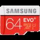 Samsung Micro SDXC EVO Plus 64GB + SD adaptér
