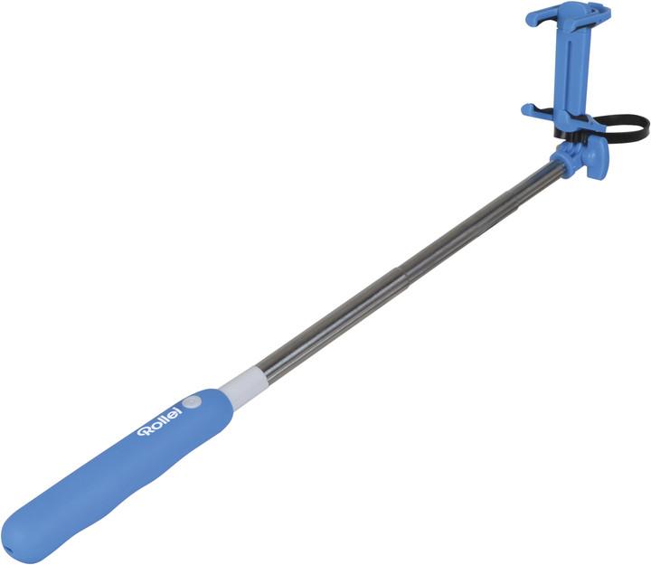 Rollei 4 Me/ Selfie tyčka pro telefony, integrovaný BT, modrá