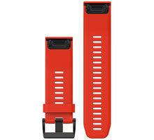 GARMIN náhradní řemínek pro Fenix 5X a Fenix 3 QuickFit™ 26, červený - 010-12517-02