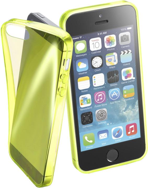 Cellularline FLUO barevné gelové pouzdro pro Apple iPhone 5/5S/SE, žluté